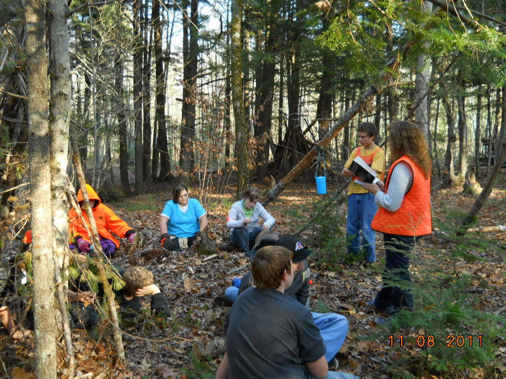 Read Aloud while Shelter Building